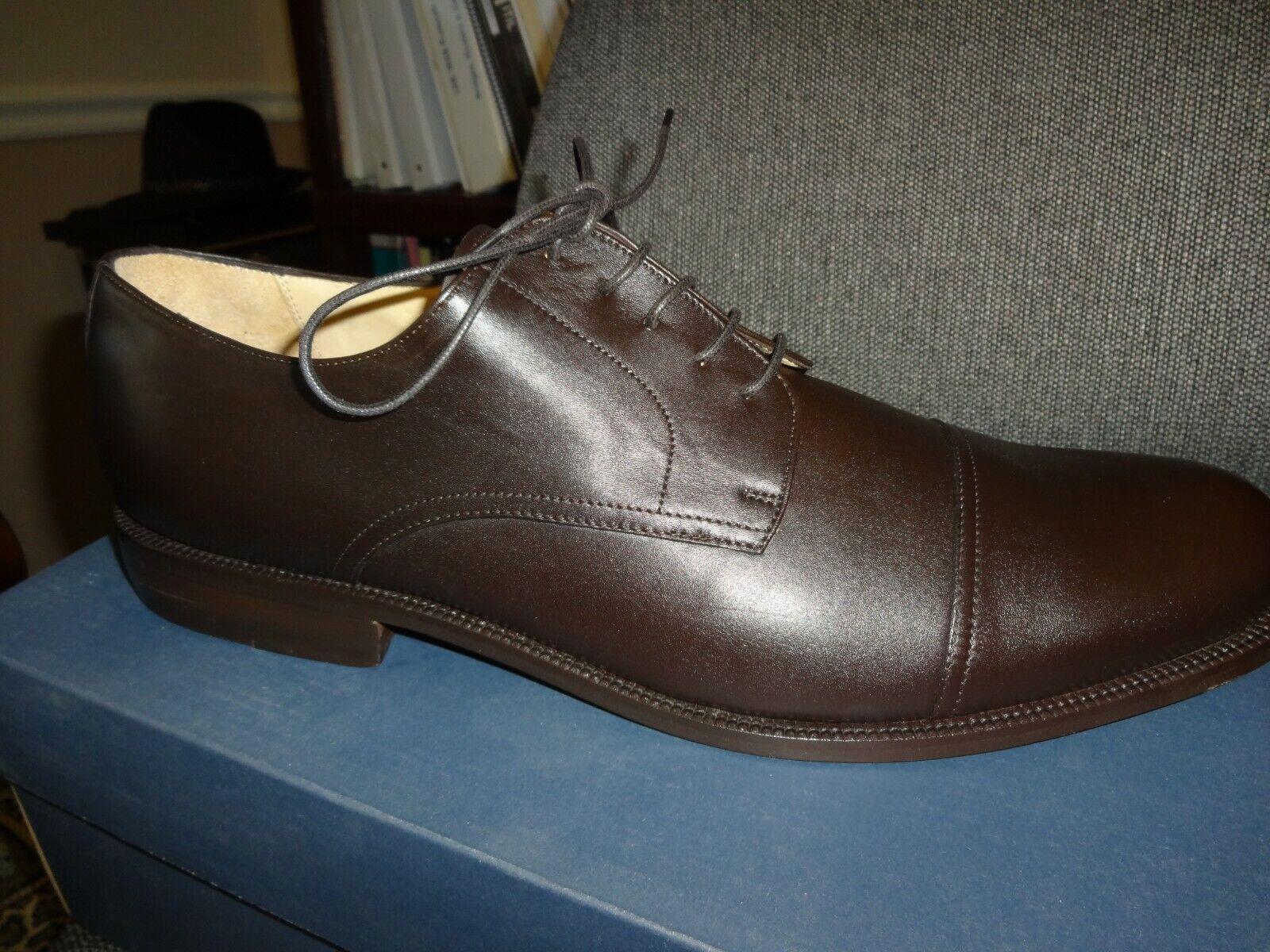Zapatos masculinos de Huntley, cuero de Borgoña clásico, 14 anchos.
