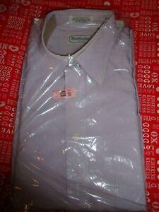 vtg 60s Penn Prest Pale Mint Green SS Button Down Dress Shirt Rockabilly L 16.5