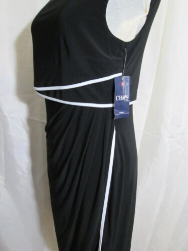 Chaps Ralph Lauren Women/'s Black Popover Tulip Hem sheath Dress  NWT SZ M $95