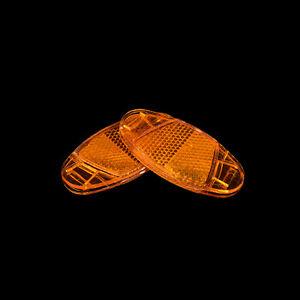 1 Paar Fahrrad speichen reflektor warnlicht fahrrad radkranz reflektierende WZ