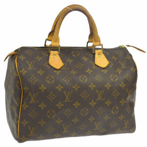 LOUIS-VUITTON-SPEEDY-30-HAND-BAG-PURSE-MONOGRAM-M41526-TH0031-AUTHENTIC-A46686c