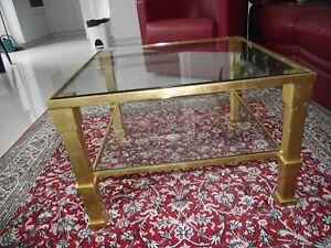 Table Basse Doree A La Feuille 24 Carats