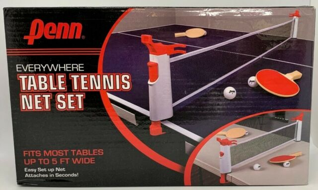 w// 2 Paddles/&3 Balls Anywhere Retractable Ping Pong Table Tennis Net /& Post Set
