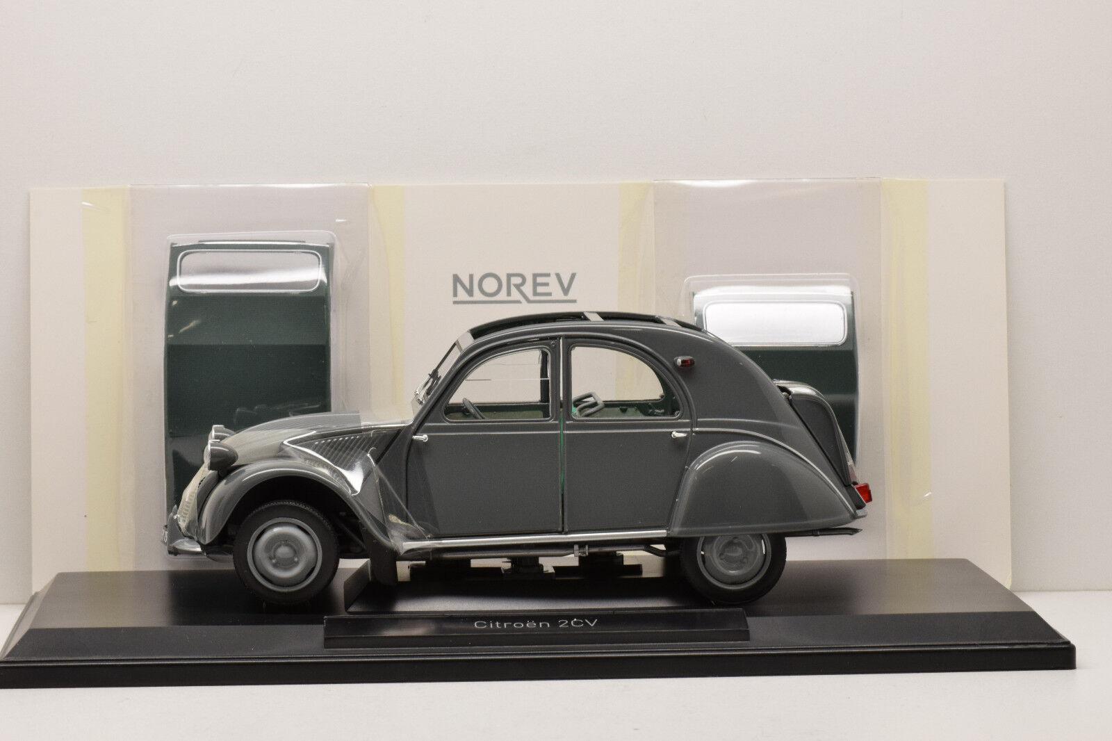CITROEN 2CV AZL MALLE RAOUL (bombée) 1957 gris NOREV 1 18 NEUVE EN BOITE