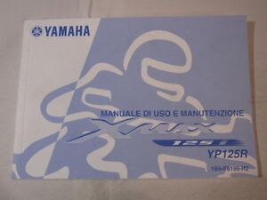 YAMAHA-YP125R-XMAX-X-MAX-2007-OWNER-MANUAL-USO-E-MANTENZIONE