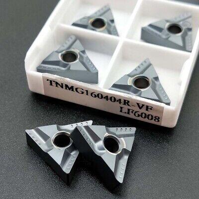 10Pcs DESKAR TNMG160404L-VF LF6008 TNMG331 Carbide inserts For Stainless steel