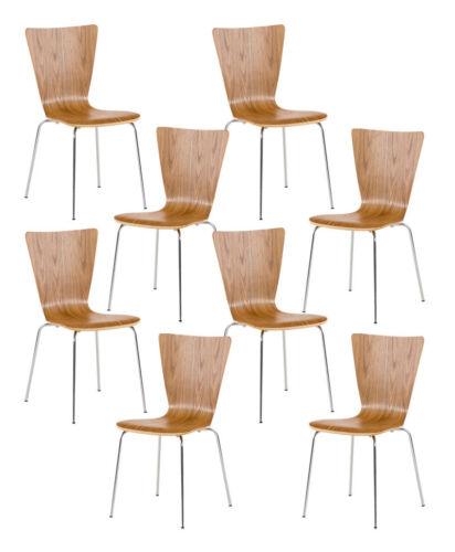 8x Besucherstuhl AARON Küchenstuhl Stapelstuhl Konferenzstuhl Stuhl stapelbar
