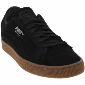 reputable site 3a1a6 cb17f Image is loading Puma-Suede-Classic-Debossed-Q4-Sneakers-Black-Mens