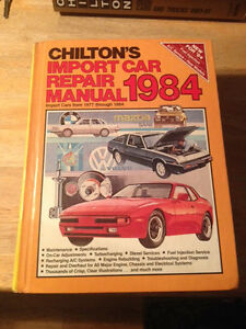 chiltons import car repair manual import cars from 1977 thru 1984 ebay rh ebay com Auto Motor Manuals Chilton Auto Parts