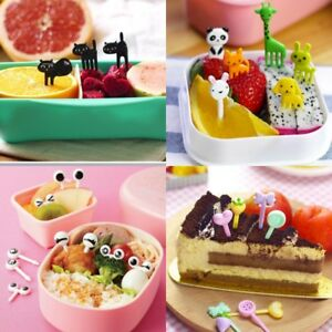 Child-Cartoon-Animal-Food-Fruit-Picks-Forks-Bento-Lunch-Box-Home-Accessory-Set