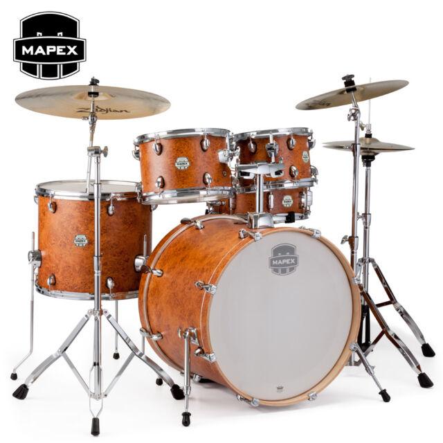 Mapex STORM 5 Piece Rock Full Size Drum Set Camphor Wood Grain Finish ST5295FCIC