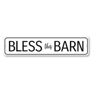 Bless This Barn Metal Sign