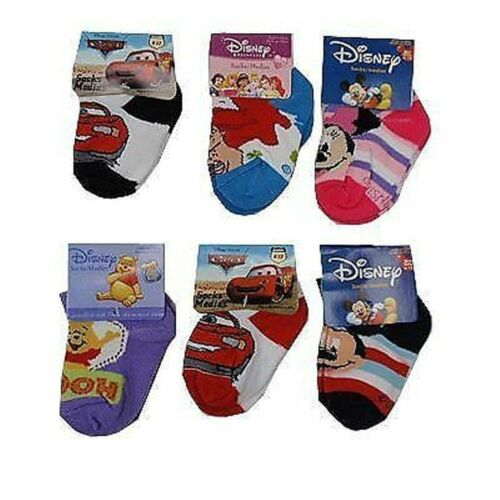 BRAND NEW DISNEY SOCKS SIZE 6-12 MTHS 12-24 MTHS  24-36 MONTHS ASSORTED DESIGNS