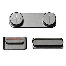 NEW GREY SIDE SWITCH Power Volume Mute Button Keypad for BLACK iPhone 5S
