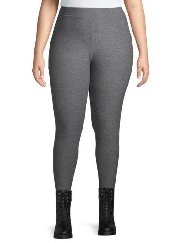 20-22W Mid Rise Gray NEW Terra /& Sky Women/'s Sueded Full Length Leggings 2X