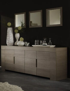 Image Is Loading Credenza Modern EOS 4 Door Average Wood Oak