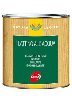 FLATTING ACQUA VERNICE INCOLORE TRASPARENTE NATURA LEGNO DUCO lt 0,750 ml 750