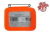 Pete Rickard - Deluxe Orange Hunting License Holder - Made In Usa 100%