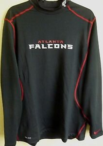 NFL Nike DRI-FIT Atlanta Falcons Football Mock Shirt XL FITTED NWT ... b49e433d0e7b
