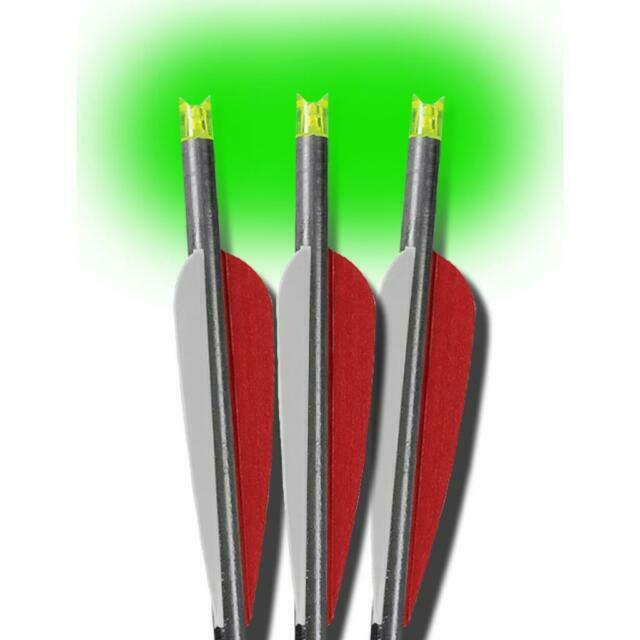 Lumenok Easton Carbon Flat Bolt End Green 3-Pack