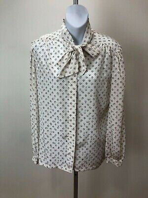 by Arpeja Vintage Late 60s early 70s Young Victorian pussy bow blouse
