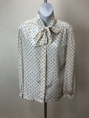 Vintage 1970s Anderson Little Pussy Bow Blouse Mad