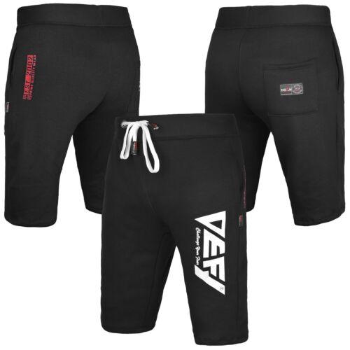 Gym Men's Casual Sweat Fleece Shorts Jogging Bottoms Joggers Fitness in Black