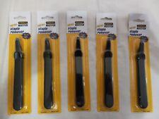 New Lot 5 Stanley Bostitch Easy Staple Remover Non Slip Grip Black Model 40000