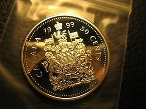 Canada-1999-50-Cent-Gem-Perfect-Coin-From-Mint-Set