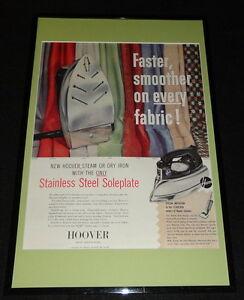 1955-Hoover-Iron-Framed-11x17-ORIGINAL-Advertising-Display