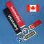Red//Black Super Trendy Metal Tag Key Chain supreme Clip Pendant with Lanyard