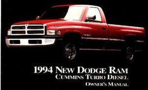 1994-Dodge-Ram-Diesel-Truck-Owners-Manual-User-Guide-Reference-Operator-Book-OEM