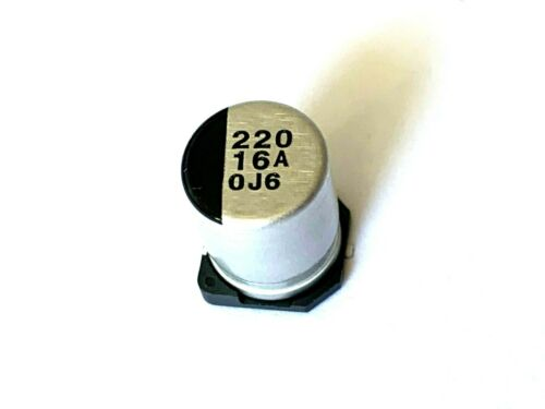 ECEV1CA221P 20/%,D=8mm,H=10,2mm,SMD 220uF Panasonic 85° Elko 20 Stück 16V