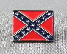 REBEL AMERICAN SOUTH FLAG Metal Pin Badge FREE POSTAGE