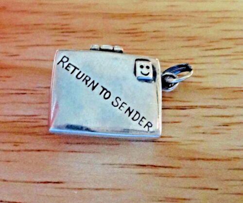 Sterling Silver 20x15mm 5 g mobile Enveloppe Lettre d/'Amour Charme peut ajouter une note