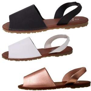 93296c1da New Womens Ladies Slingback Flat Menorcan Open Toe Spanish Sandals ...