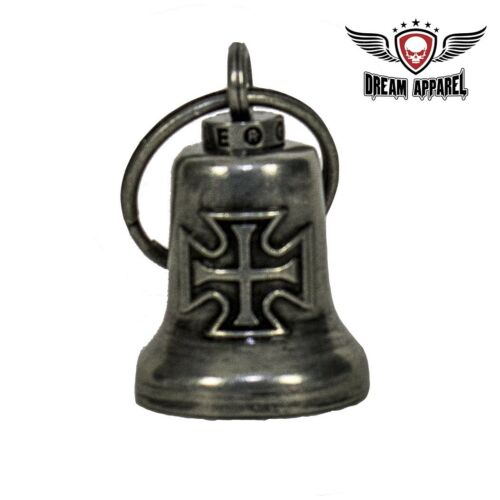 Gun Metal Iron Cross Gargoyle Bell with Carrier Bag free shipping