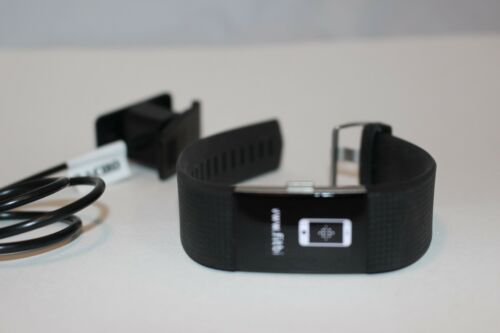 Fitbit Charge 2 Heart Rate Fitness Wristband Black Large L FREE SHIPPING