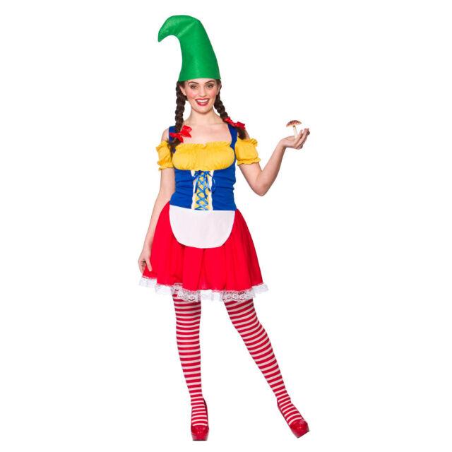 CUTE GARDEN GNOME FANCY DRESS COSTUME WICKED PIXIE FAIRYTALE ADULT  sc 1 st  eBay & Ladies Womens Cute Gnome Costume for Fairytale Dwarf Elf Fancy Dress ...