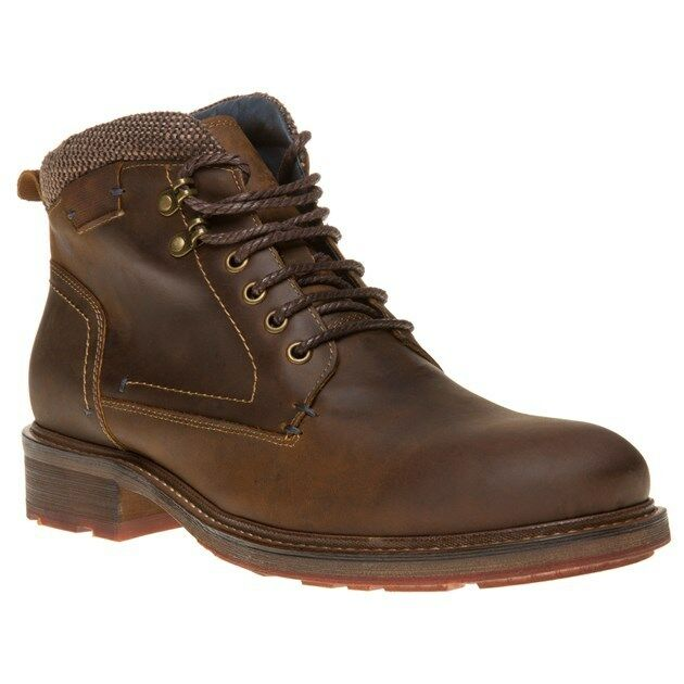 New Mens SOLE Brown Radley Leather Boots Lace Up