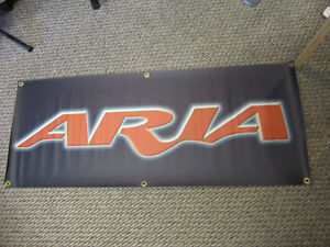 Aria-vintage-silk-screened-dealer-banner