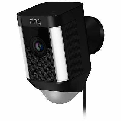 Ring Spotlight Cam Wired Outdoor 1080p IP Camera - Black