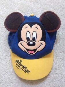 VTG Walt Disney World MICKEY MOUSE BASEBALL CAP Brown EARS YOUTH  5ffbdbb88109