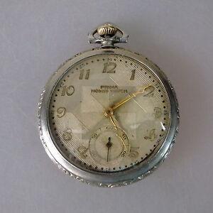Genial Art Deco Herrentaschenuhr Prima Homis Watch Um/ab 1928 Vertrieb Von QualitäTssicherung 44536