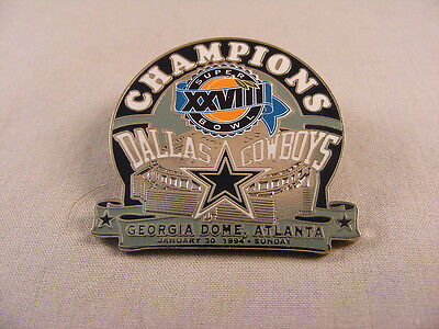 WILLABEE & WARD DALLAS COWBOYS NFL FOOTBALL SUPER BOWL XXVIII CHAMPIONS 1994 PIN
