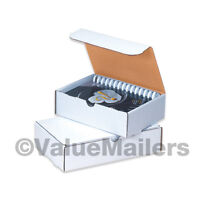 50 - 9 X 6 1/2 X 1 3/4 White Shipping Mailer Literature Box Packing Boxes on sale