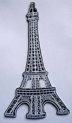 EIFFEL TOWER LA DAME DE FER  IRON LADY Embroidered Iron on Patch + Free Shipping