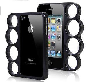Details about Coque Iphone 4 4S POING AMERICAIN NOIR Noire BUMPER Fashion Case Black Knuckle