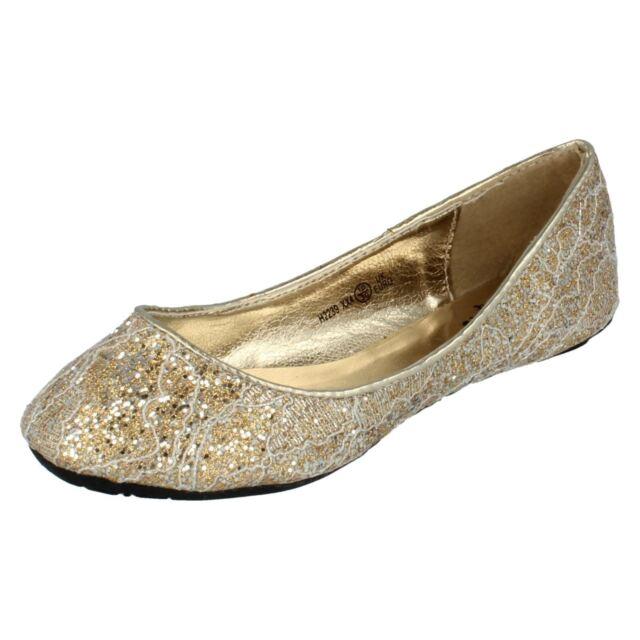 Buy Girls Cutie Glitter Shoes H2239 N Gold Standard 2 online  ec9264369