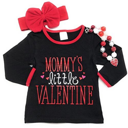Valentine/'s Day T-Shirt Baby Toddler Girl Mommy Tee Top Boutique Clothes Kid